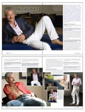 Greg Louganis Fashion Shoot, Art Direction, Cover and Feature Spreads Design