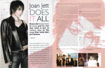 Joan Jett Layout & Design Spread