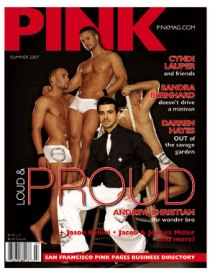 PINK Summer Andrew Christian Headline Concept & Cover Design