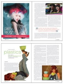 Margaret Cho & Dixie Longate Layout & Design Spreads
