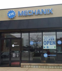 EYE MECHANIX Exterior Building Sign • LINCOLN PARK, CHICAGO