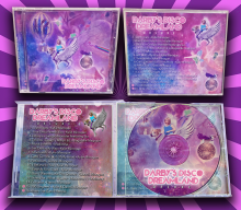 Darby's Disco Dreamland Deluxe CD Design Art: Outside Front/Back, Inside inserts; CD Label