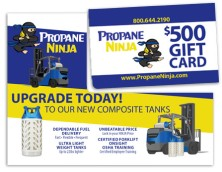 Design based on Exisiting Marketing Collateral for Propane Ninja May 2016