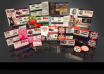 GiftCard/KeyTag Designs for Monthly Targets clients • Aug - Dec 2015