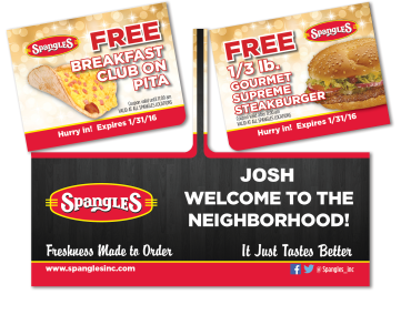 Spangles Restaurant Double Giftcard Mocked Popped for Sales Tool