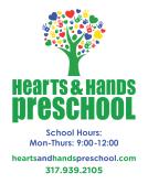 Hearts & Hands PreSchool Front Window Cling