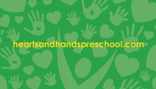 Hearts & Hands PreSchool Business Card Back 2016