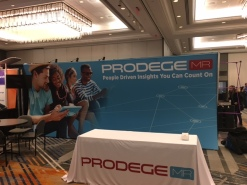 ProdegeMR Banner Printed and at Quirks Conference NY 2017