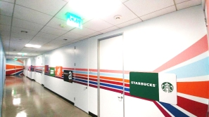 Prodege/Swagbucks Full Walll Interactive Mural Design - Removable Magnetic Client Gift Cards