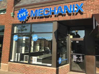 NEW! 2nd Location! GRAND OPENING OF EYE MECHANIX Exterior Building Sign