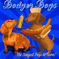 """Dodger Doxie"" PawPrintLA • August 2018"