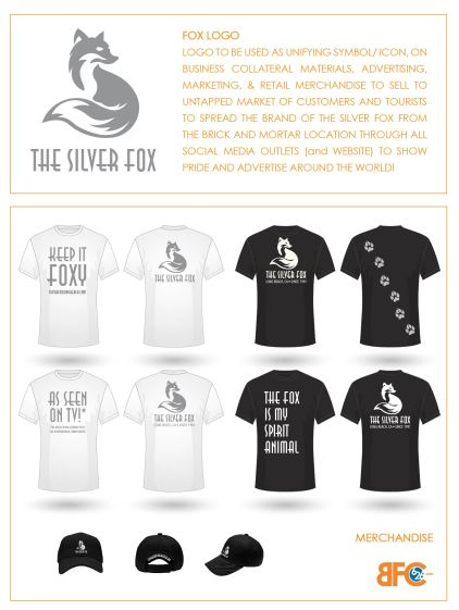 The Silver Fox Logo and Merchandise • July 2019