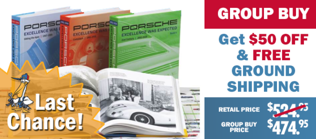 Client: Pelican Parts - E Newsletter Lead Image • Porsche Group Buy Sept 2019