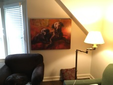 Final PawPrint Art in Client's Home 2020