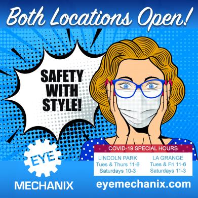 Eye Mechanix Covid Safety Post - POP